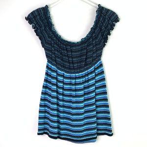 [Free People] chevron knit babydoll top #W14